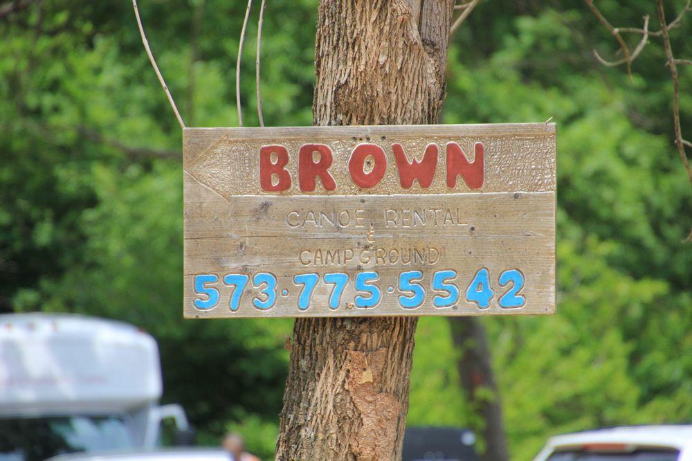 B & Brown Canoe Rental: 586 Hwy E, Steelville, MO