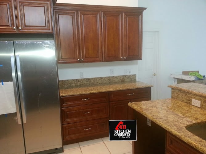 Coffee Cherry Kitchen Cabinets remodel - Yelp