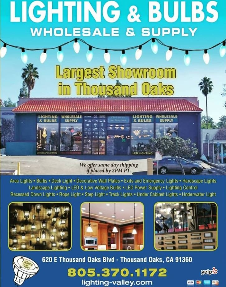 Lighting & Bulbs Wholesale & Supply: 620 E Thousand Oaks Blvd, Thousand Oaks, CA