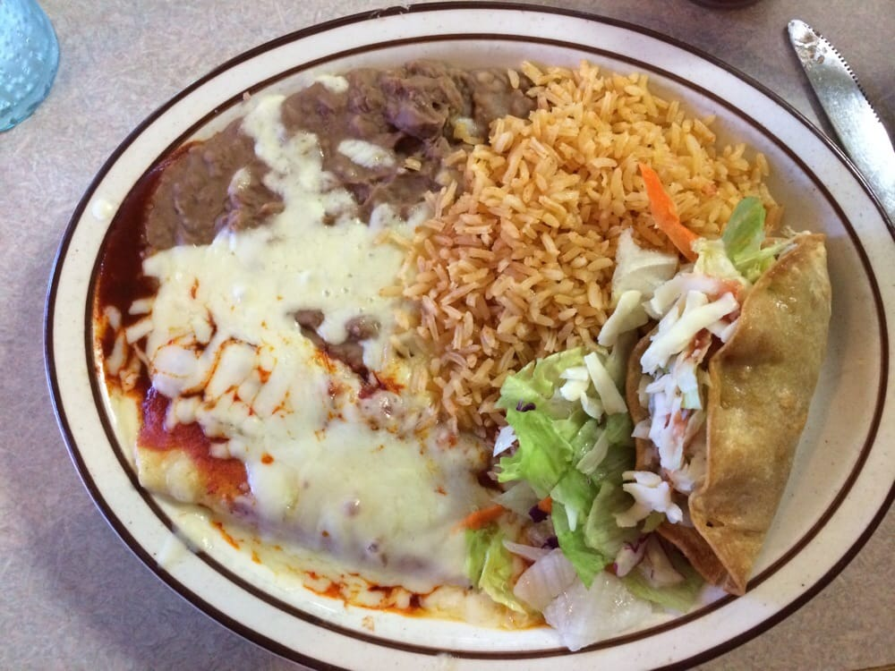 Taco cheese enchilada plate yelp for Alejandra s mexican cuisine