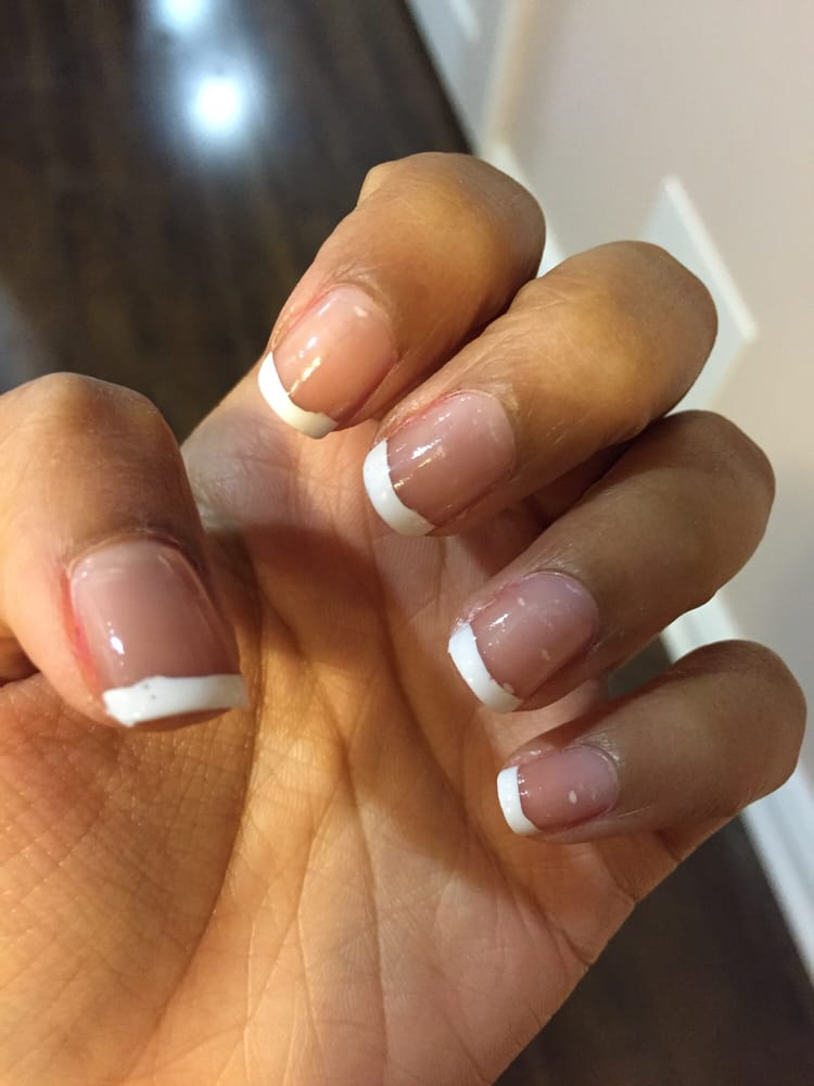 French manicure on real nails were uneven and very poorly shaped. - Yelp