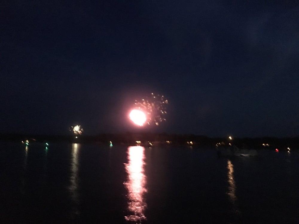 Lake Athens Annual Boat Parade: North Of Goat Island, Lake Athens, TX