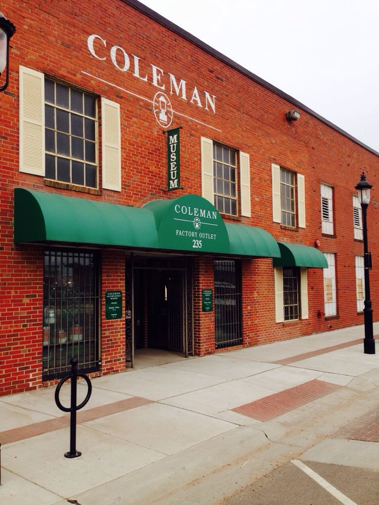 Coleman Factory Outlets: 235 N St Francis, Wichita, KS