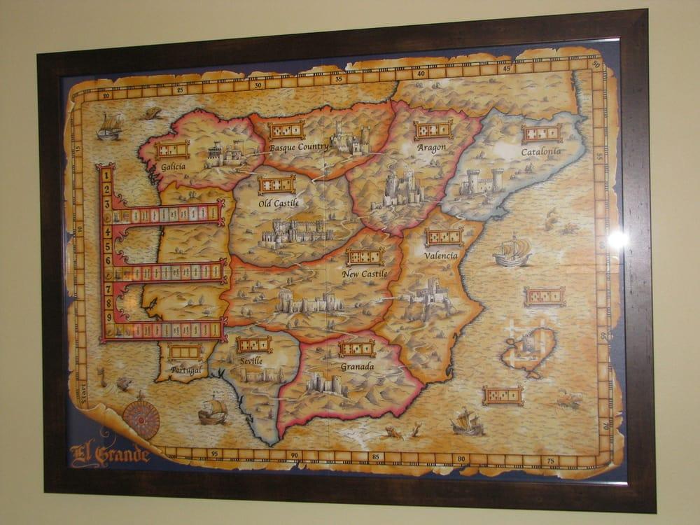 Board game board framed by Hampton House - Yelp