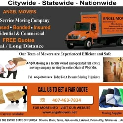 Angel Movers 19 Reviews Movers Orlando Fl Phone