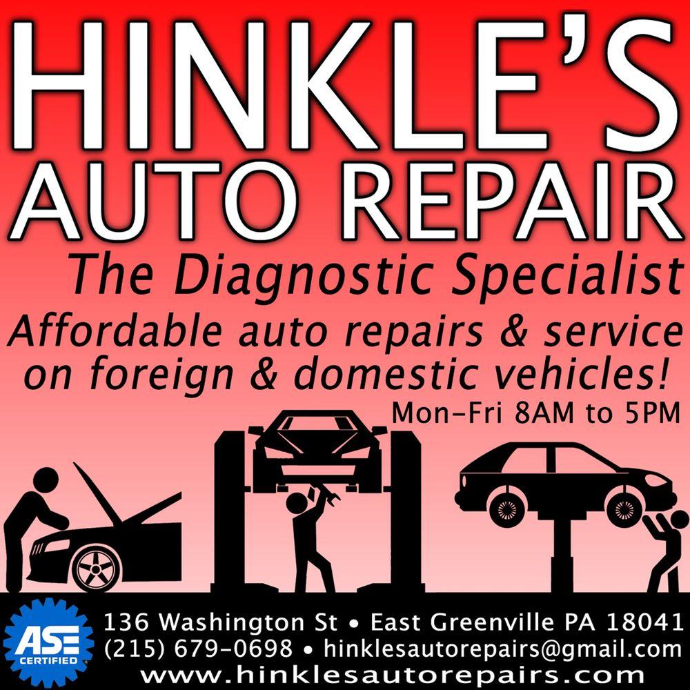 Hinkle's Auto Repair: 136 Washington St, East Greenville, PA