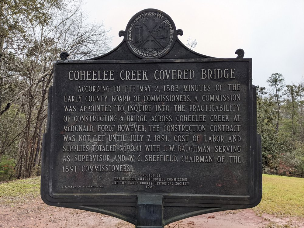 Coheelee Creek Covered Bridge: Old River Rd, Blakely, GA