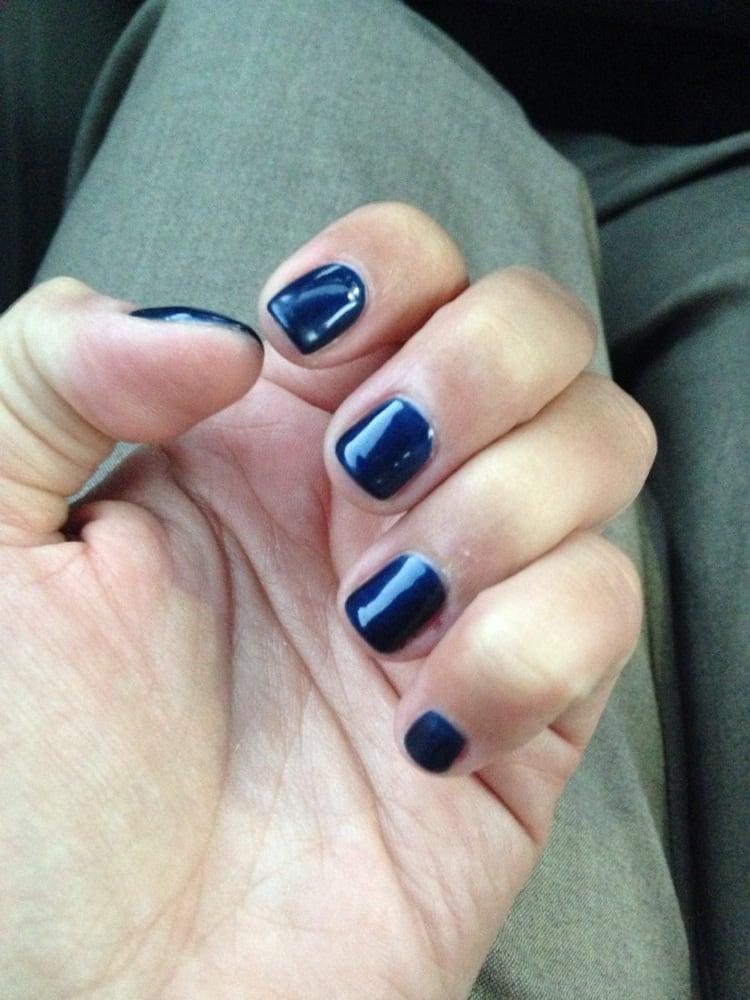 New Essie navy blue gel manicure - Yelp