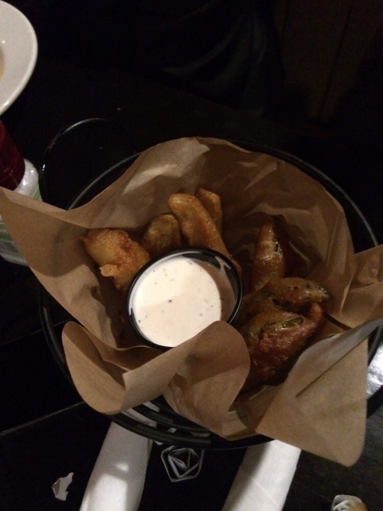 Fried pickle spears yum yelp for Whiskey kitchen virginia beach
