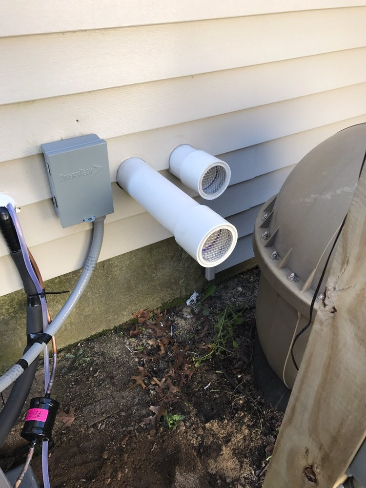 exhaust and fresh air intake for rheem tankless water heater. - yelp
