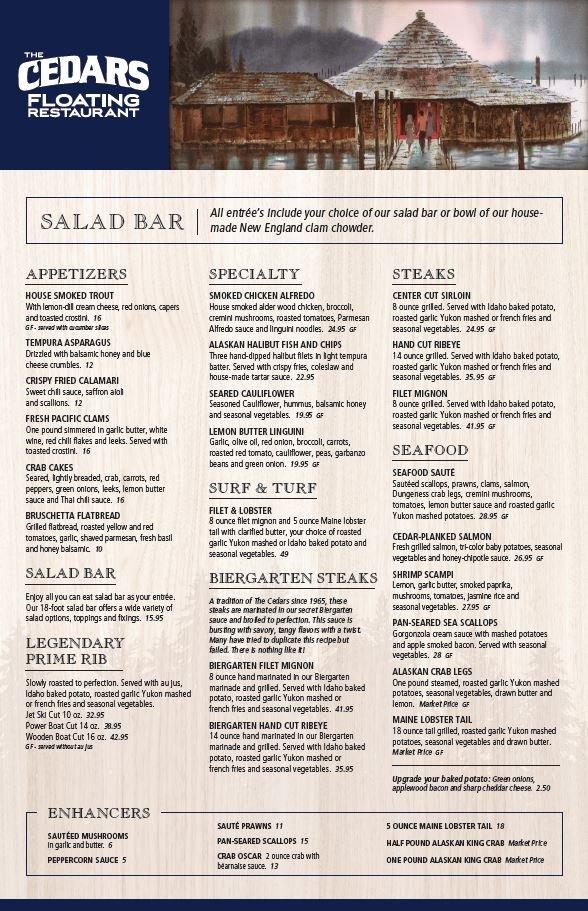Cedars Floating Restaurant - Coeur d'Alene Resort: 1514 N Marina Dr, Coeur d'Alene, ID