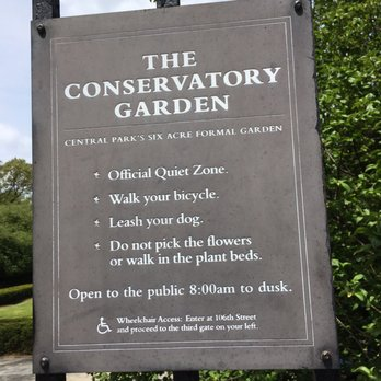 Photo Of The Conservatory Garden   New York, NY, United States. Signage