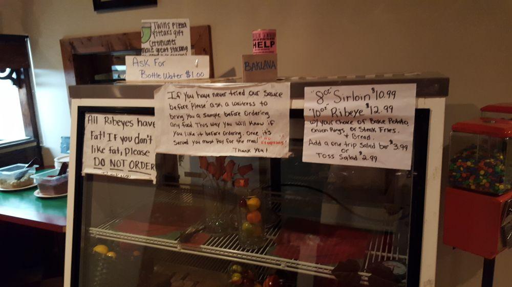 Twins Pizza & Steaks: 1104 N Main St, La Fayette, GA