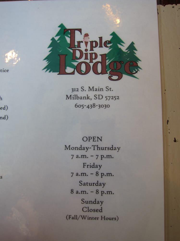 Triple Dip Lodge: 312 S Main St, Milbank, SD