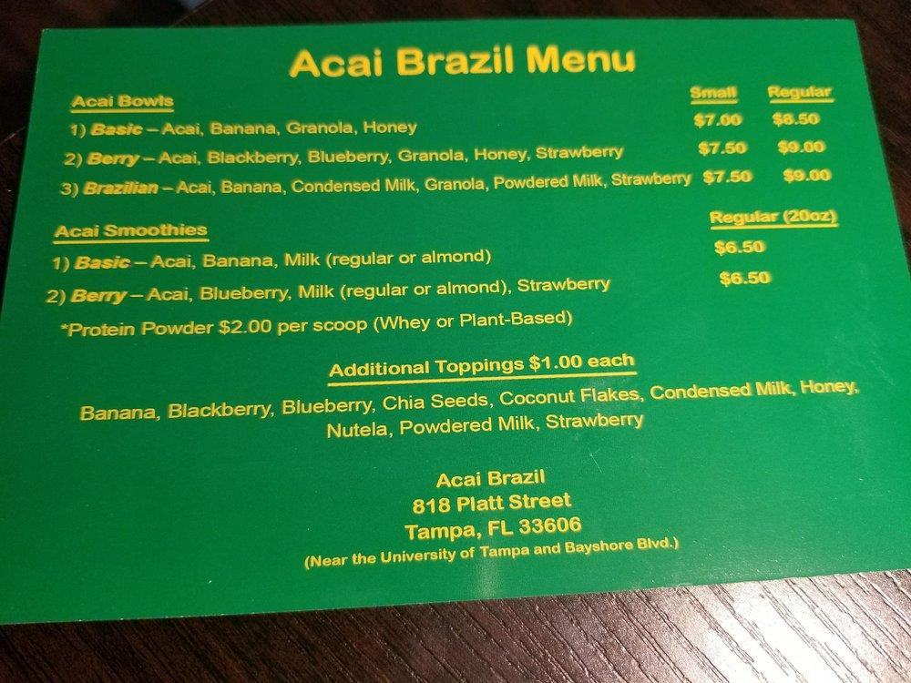 Acai Brazil: 818 W Platt St, Tampa, FL