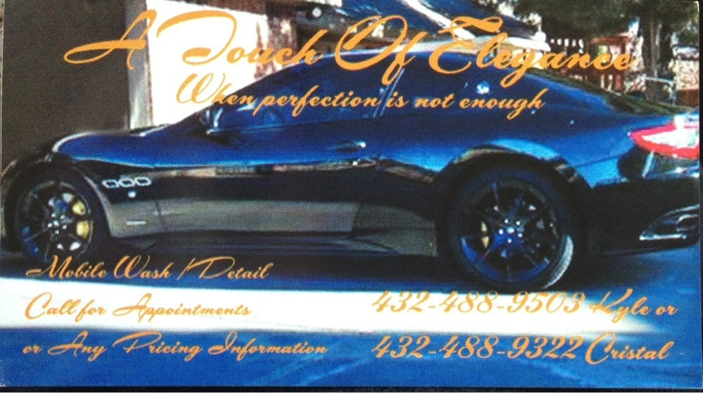 car detail midland tx	  A Touch of Elegance provides superior car wash and detail services ...