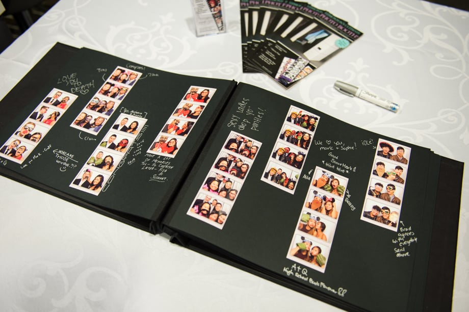 Our Photo Booth Guest Book Album Is Assembled And Presented That