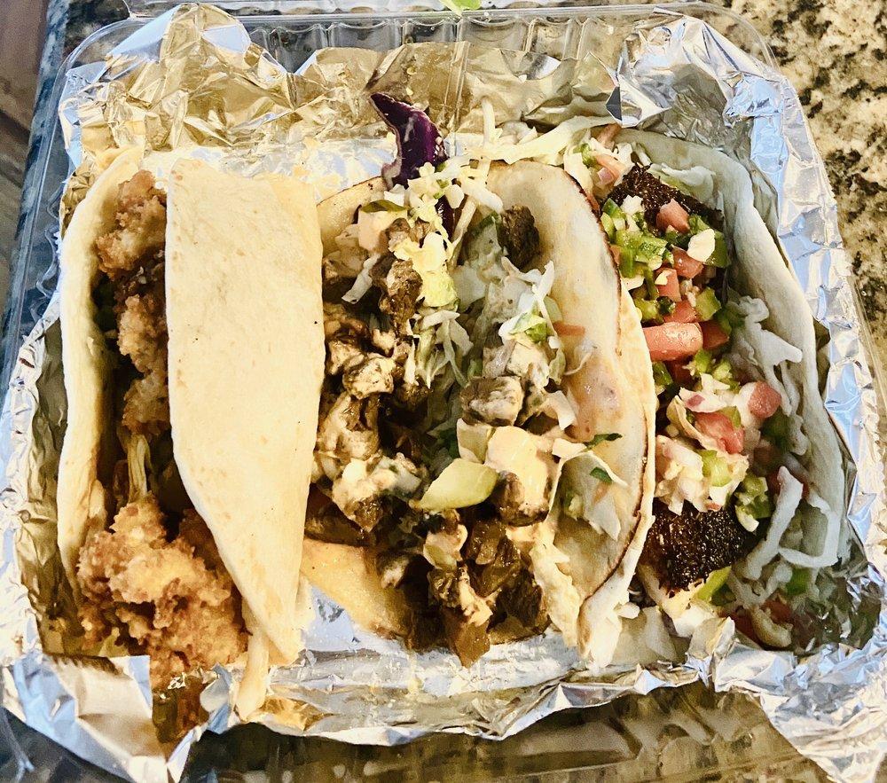 Food from Dos Vatos Tacos