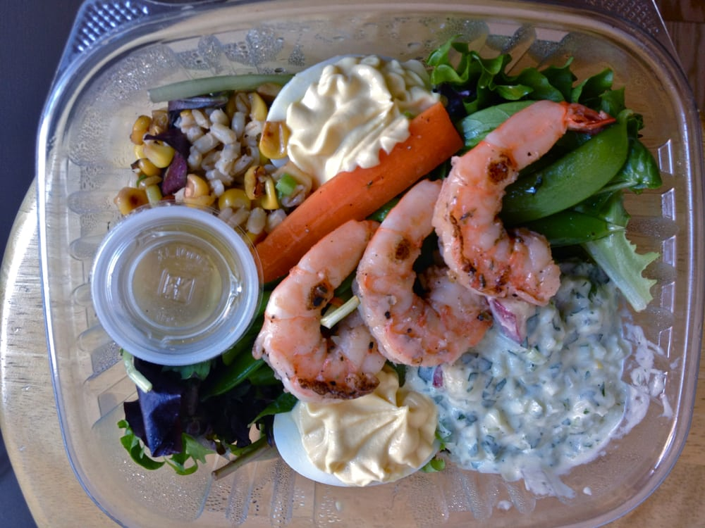 Grilled Shrimp Lunchbox w/ Deviled Egg, Potato Salad, Poached Veggies ...