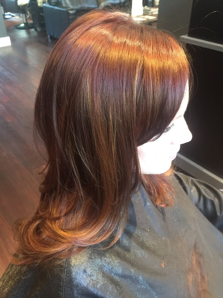 Balayage red and cut be vanessa yelp for 921 salon baltimore