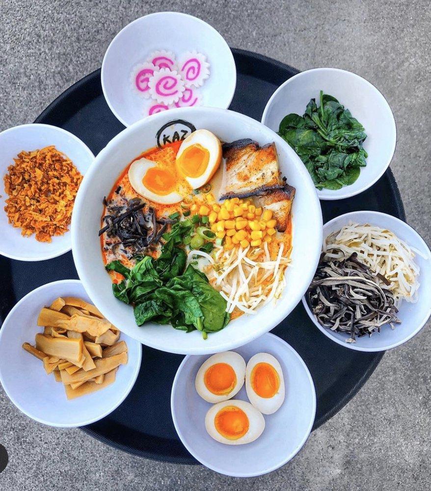Food from Kaz Ramen