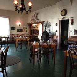 Photo of La Casa Rosa - San Juan Bautista, CA, United States. Interior of the restaurant. It's like stepping back in time.
