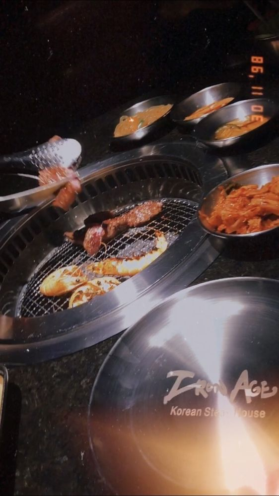 Food from Iron Age Korean Steak House