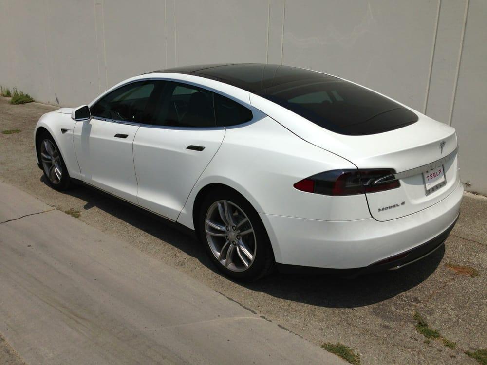 2014 Tesla Model S with Prestige Spectra PhotoSync 35% Tint