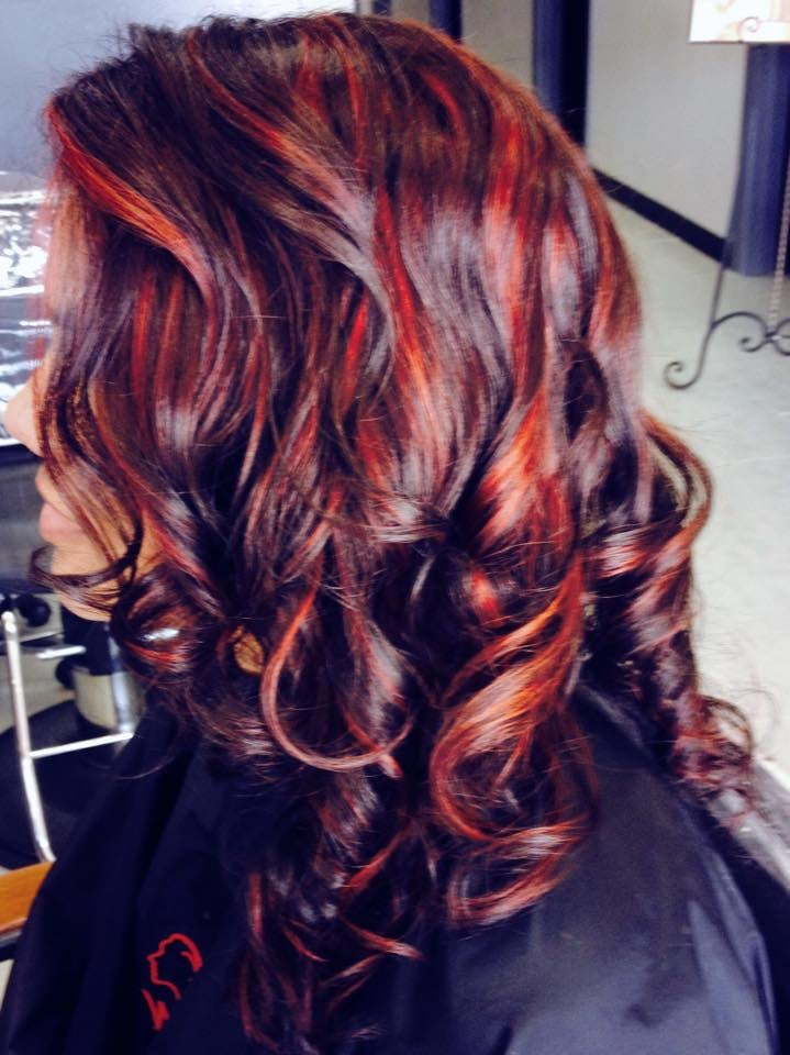 Renew your look with these crimson highlights only at aishas 17 photos for aishas salon spa pmusecretfo Images