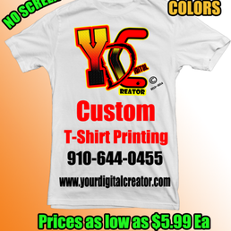 Your digital creator custom t shirt printing 10 photos Custom t shirt digital printing