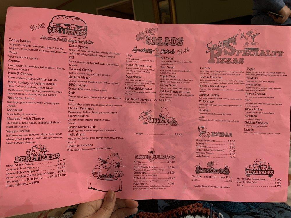 Snappys Pizza: 9576 Highway 46, Bon Aqua, TN