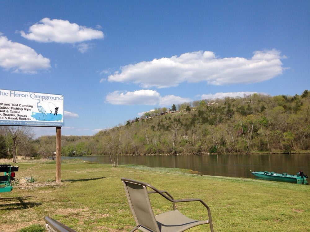 Blue Heron Campground & Resort on the White River: 150 Blue Heron Dr, Flippin, AR