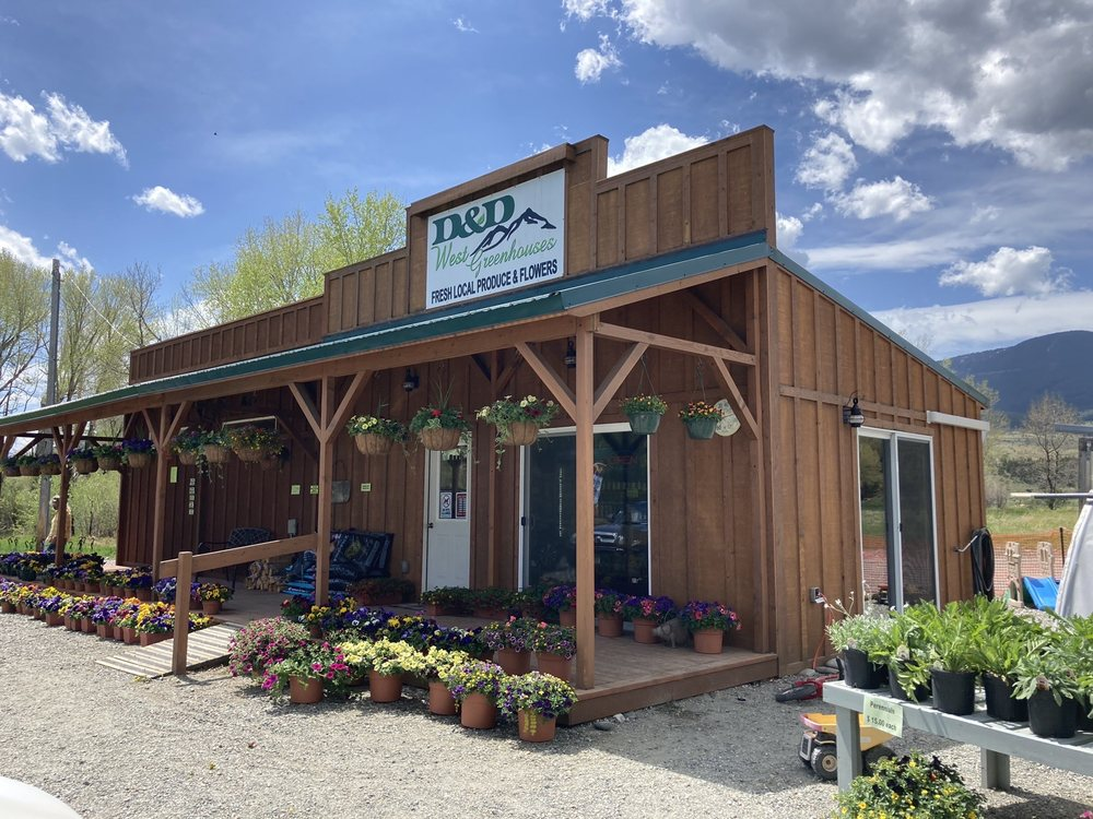 D And D West Greenhouse: 5189 Hwy 89 S, Livingston, MT