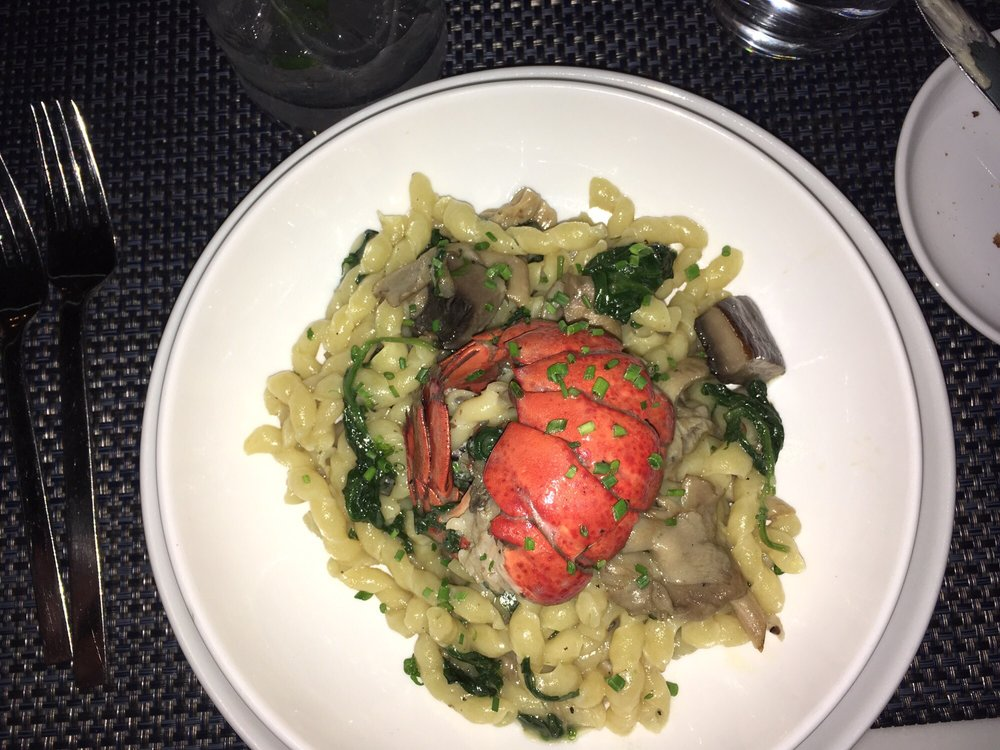 Truffle Butter Pasta daily pasta with maine lobster, mushrooms, and truffle butter - yelp