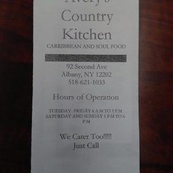 Avery S Country Kitchen Soul Food 92 Second Ave Albany