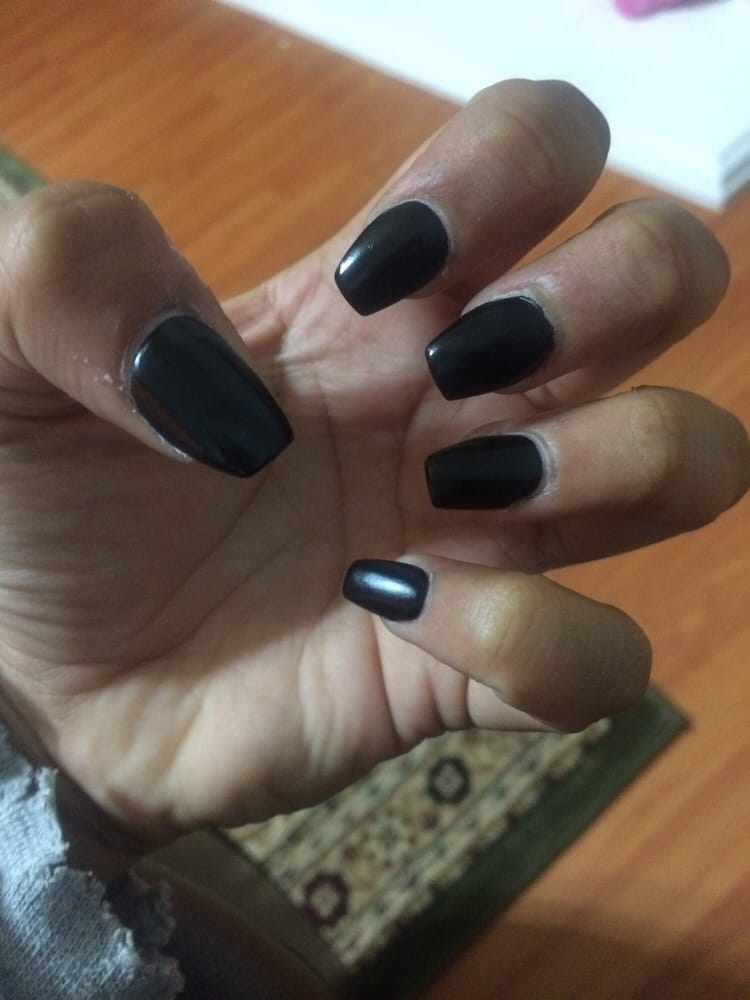 short coffin style black matte acrylics - Yelp