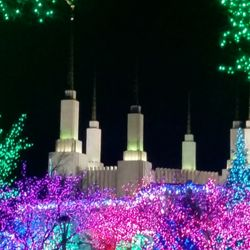 photo of mormon temple visitor center and the festival of lights kensington md