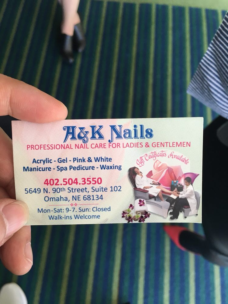 A & K Nails: 5649 N 90th St, Omaha, NE