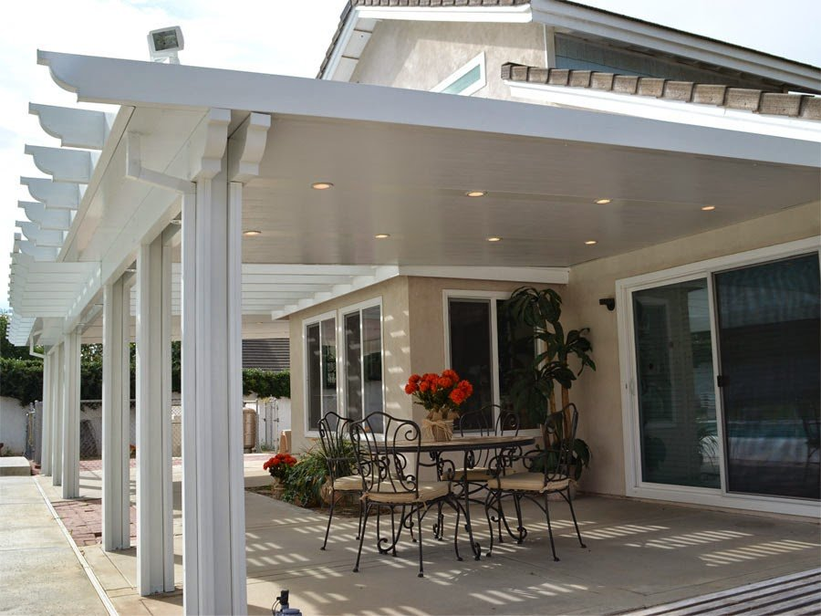 Solid Lattice Combination Aluminum Elitewood Patio Cover
