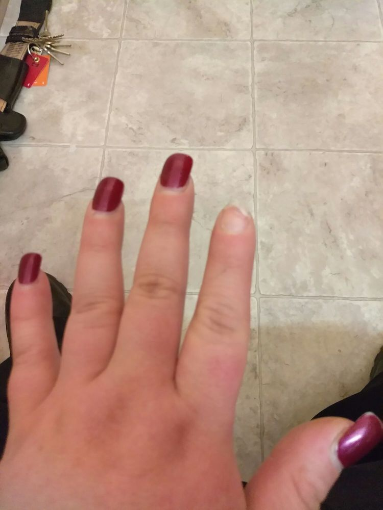 Nail came off 2 weeks after getting them done. Paints chipping and I ...