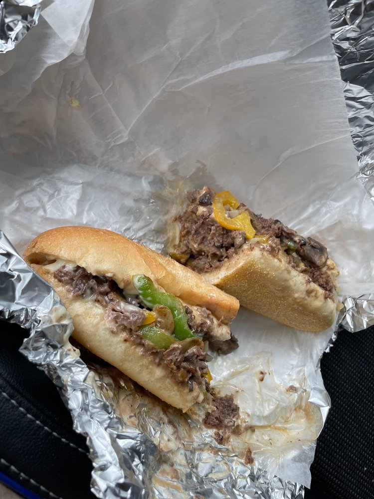 Food from Mad Mike's Cheesesteaks & Salads
