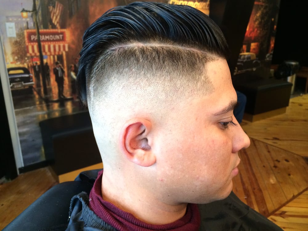 Haircut Hi Low Skin Fade With A Nice Part Hair Is About 4 Inches