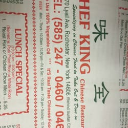 Chef King Chinese Restaurant In Rochester Ny