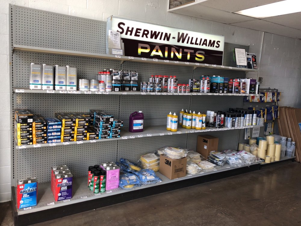 Sherwin Williams Auto Paint >> Products On Shelf Yelp