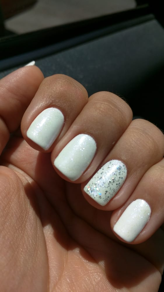 Photo Of Bliss Beauty And Spa Milpitas Ca United States White Nails