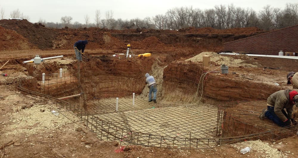 Step 1 For A Gunite Concrete Pool Rebar Forms Can Be