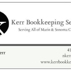 Kerr bookkeeping services bookkeepers san rafael ca phone photo of kerr bookkeeping services san rafael ca united states business card reheart Images