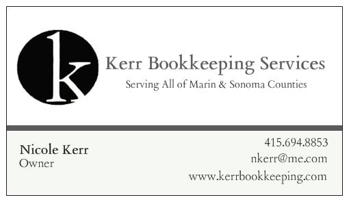 Kerr bookkeeping services bookkeepers san rafael ca phone photo of kerr bookkeeping services san rafael ca united states business card colourmoves