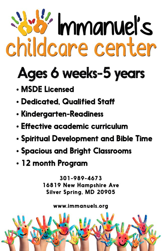 Immanuel's Childcare Center: 16819 New Hampshire Ave, Silver Spring, MD