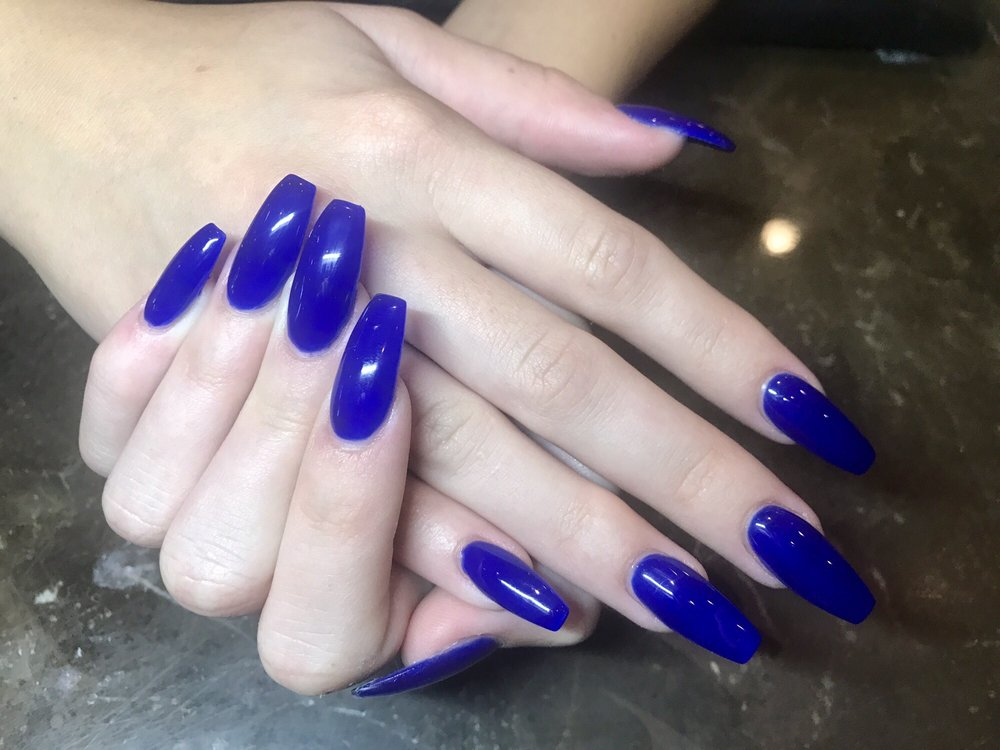 Royal Blue Coffin Nails Best Cars 2018
